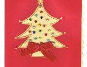 Biglietto auguri di Natale con le perline