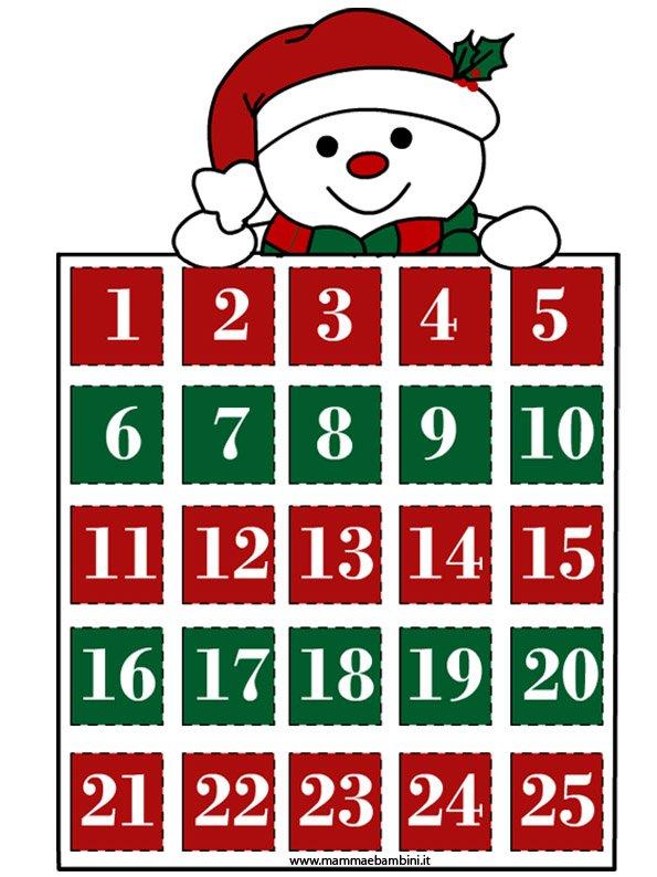 Calendario dell'Avvento da stampare