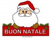 Disegno Babbo Natale con scritta Buon Natale