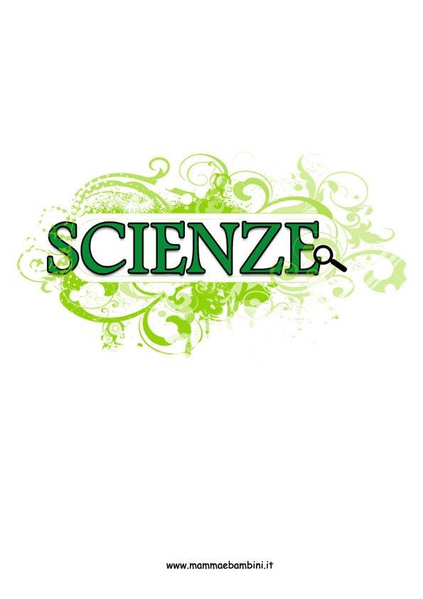 Copertina scienze colorata per ragazzi