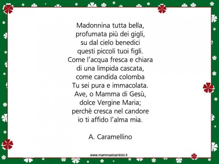 Poesie Di Natale In Dialetto Siciliano.Poesia Sulla Madonna Per La Festa Dell Immacolata Concezione Mamma