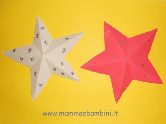 Disegno Stella Di Natale Da Colorare.Stella Di Natale Facile Da Realizzare Mamma E Bambini