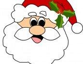 Viso di Babbo Natale da stampare