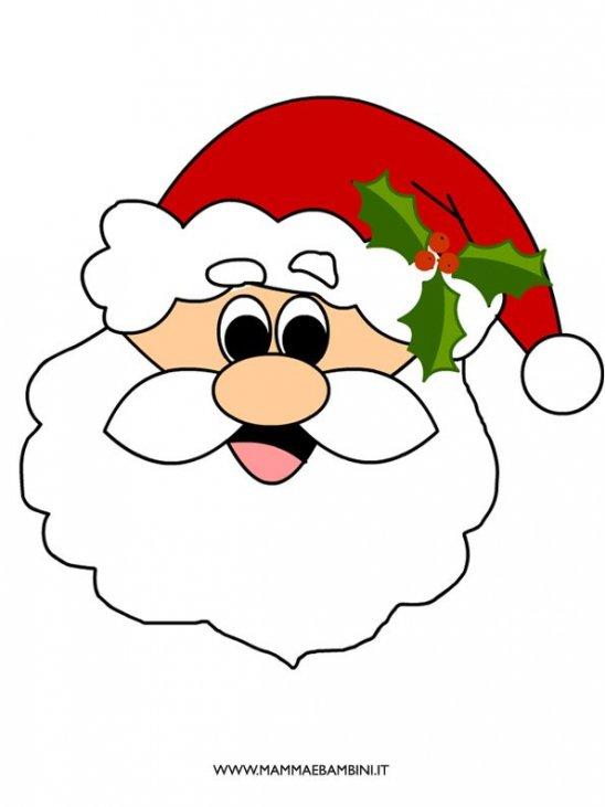 Viso di Babbo Natale da stampare - Mamma e Bambini
