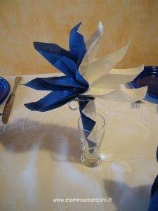 Piegare Tovaglioli a fiore bicolore