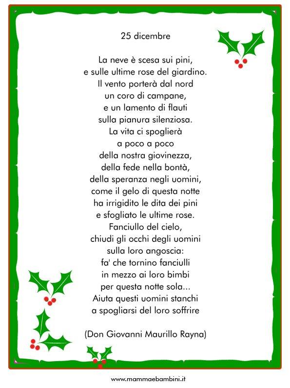 Le Piu Belle Poesie Di Natale Scuola Primaria.Poesia Sul Natale 25 Dicembre Mamma E Bambini