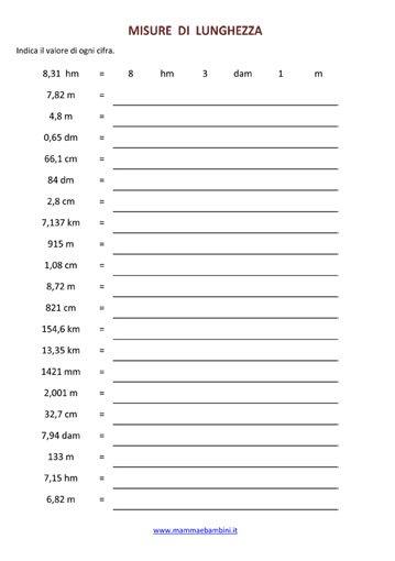 Esercizio sulle misure di lunghezza