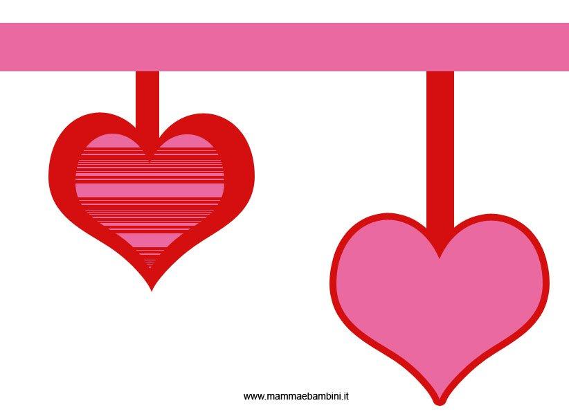 Festone per san valentino da stampare e ritagliare mamma e bambini - Decori per san valentino ...