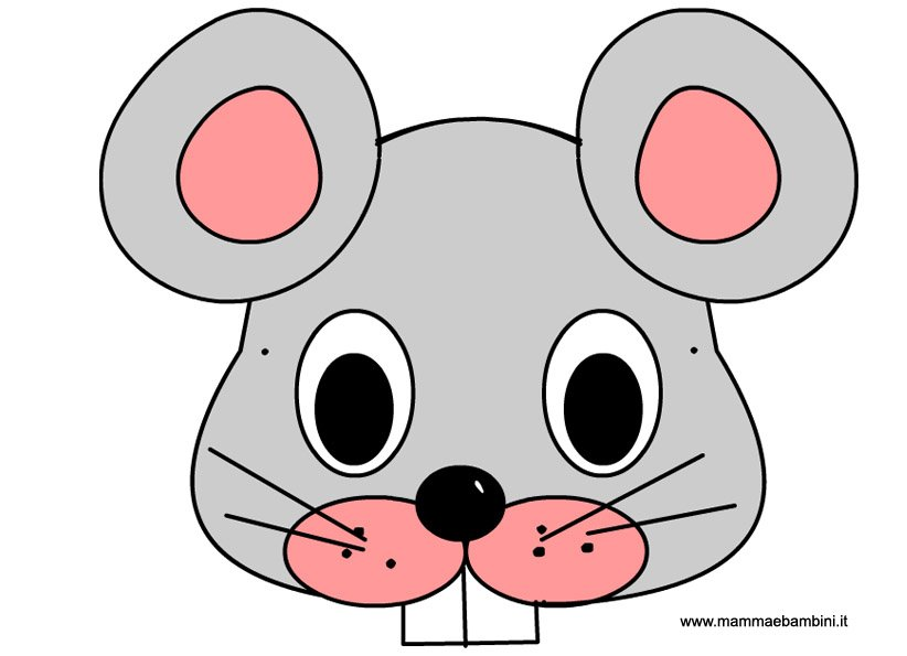 Maschera per Carnevale di un topolino
