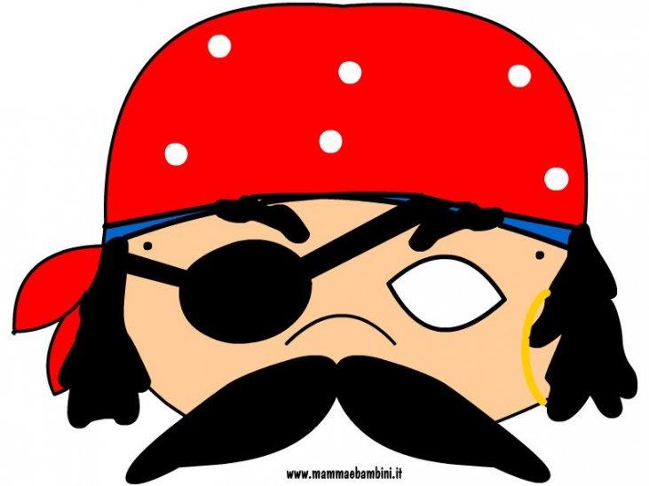 Disegno Maschera Pirata Da Stampare Mamma E Bambini