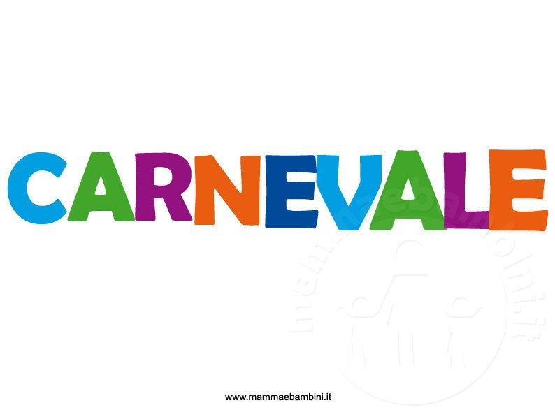Festone con la scritta Carnevale