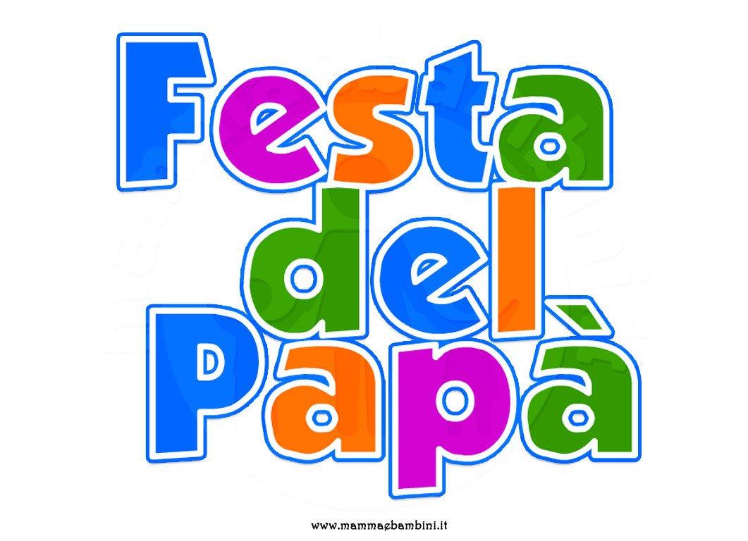 Scritta Festa del Papà da stampare