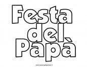 Festa del Papà scritta da colorare