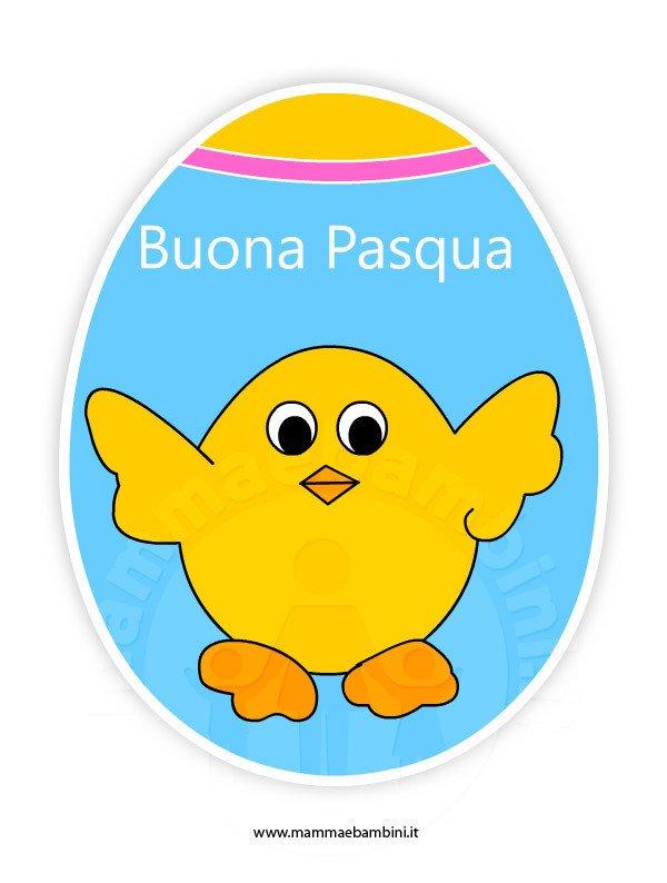Biglietto Buona Pasqua da stampare