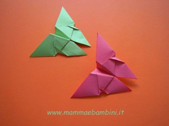Come realizzare una farfalla con gli origami