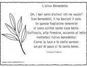 L'ulivo Benedetto: poesia con ramo ulivo da colorare
