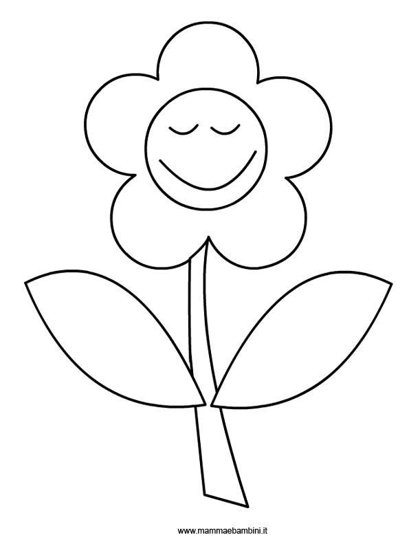Fiore da colorare mamma e bambini for Disegni di natale facili per bambini