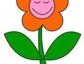 Disegno fiore che ride da ritagliare