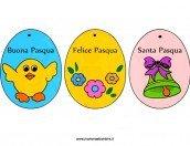 Uova Pasqua da ritagliare e appendere