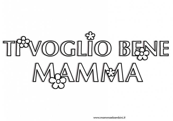 Scritta Da Colorare Per La Festa Della Mamma Mamma E Bambini