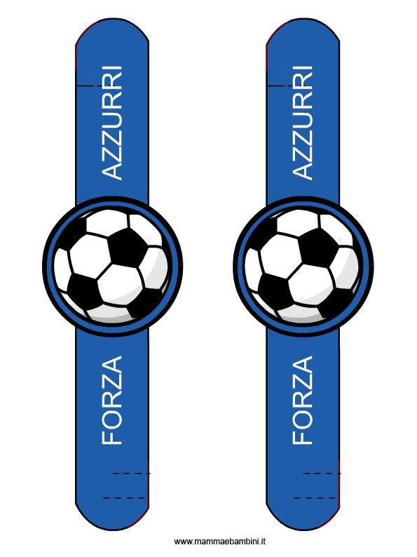 Braccialetto Forza Azzurri da ritagliare