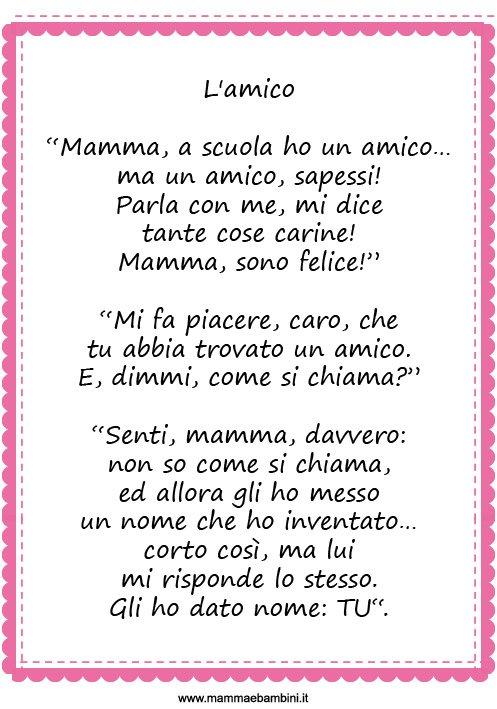 Raccolta Poesie Sul Primo Giorno Di Scuola Mamma E Bambini
