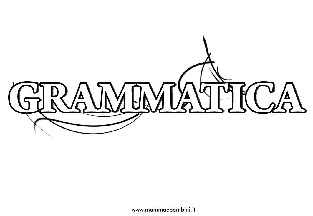 Copertine per ragazzi: materia Grammatica
