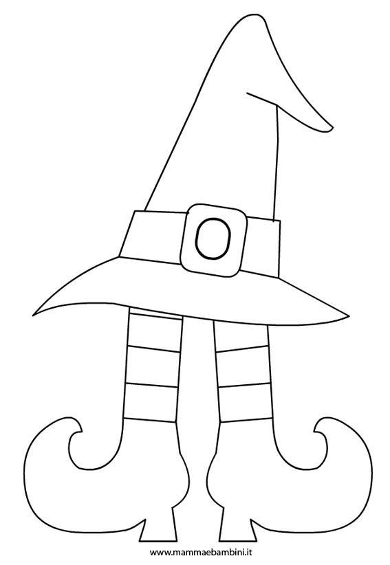 Disegno da colorare per Halloween  cappello strega – Mamma e Bambini 511bc0189352