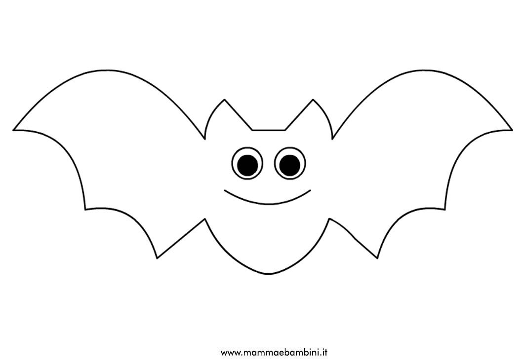 Pipistrello da colorare e ritagliare mamma e bambini Disegni halloween da colorare gratis