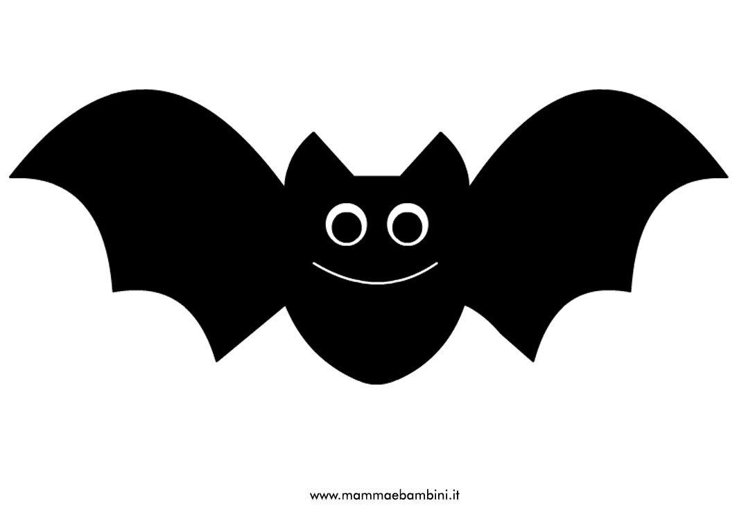 Disegno pipistrello da ritagliare per halloween mamma e - Contorno immagine di pipistrello ...
