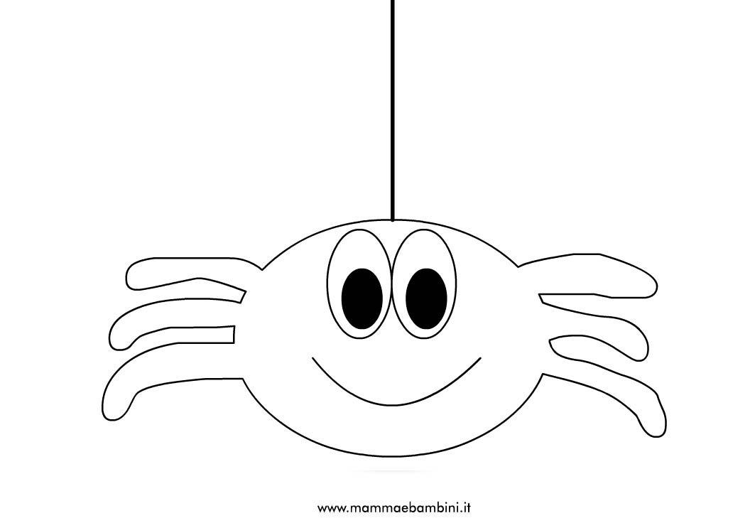 Ragno appeso ad un filo da colorare mamma e bambini - Immagini del ragno da stampare ...
