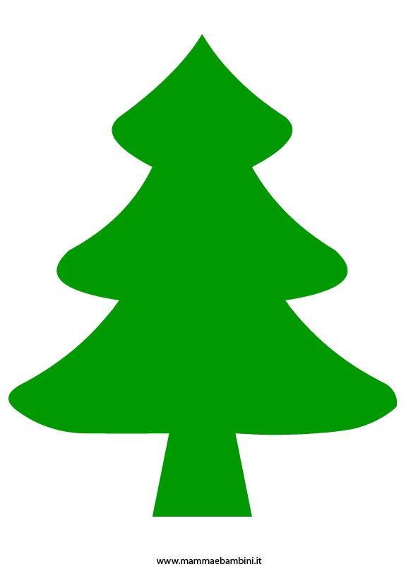 Disegno albero di natale da ritagliare mamma e bambini for Disegni facili di natale