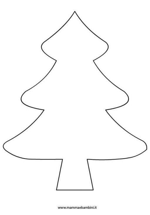 Sagoma Albero Di Natale Per Lavoretti Mamma E Bambini