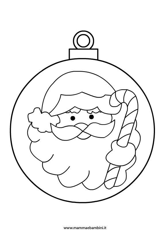 Palline Con Babbo Natale Da Colorare Mamma E Bambini