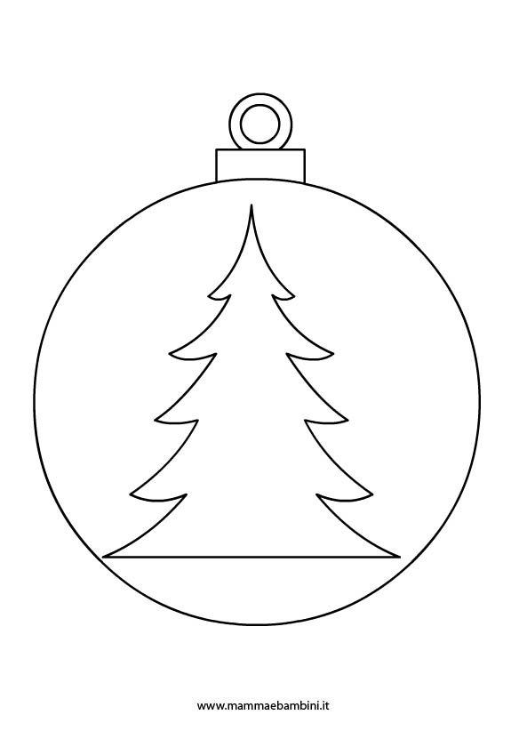 Disegni Palline Per Albero Di Natale Mamma E Bambini
