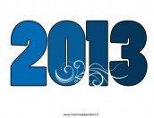 Scritta 2013 da stampare