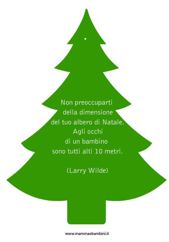 Decorazione natalizia con frase