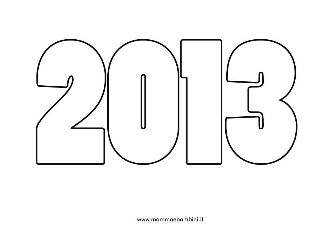 Numero 2013 da colorare