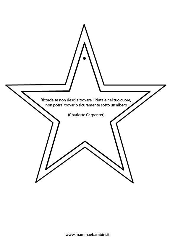 Disegno stella con frase di Natale da appendere