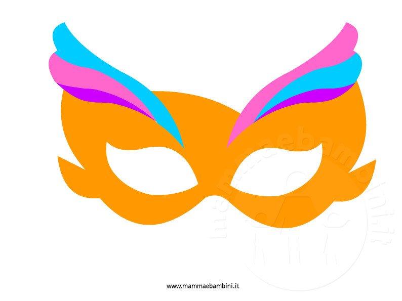 maschera-carnevale-arancione da ritagliare