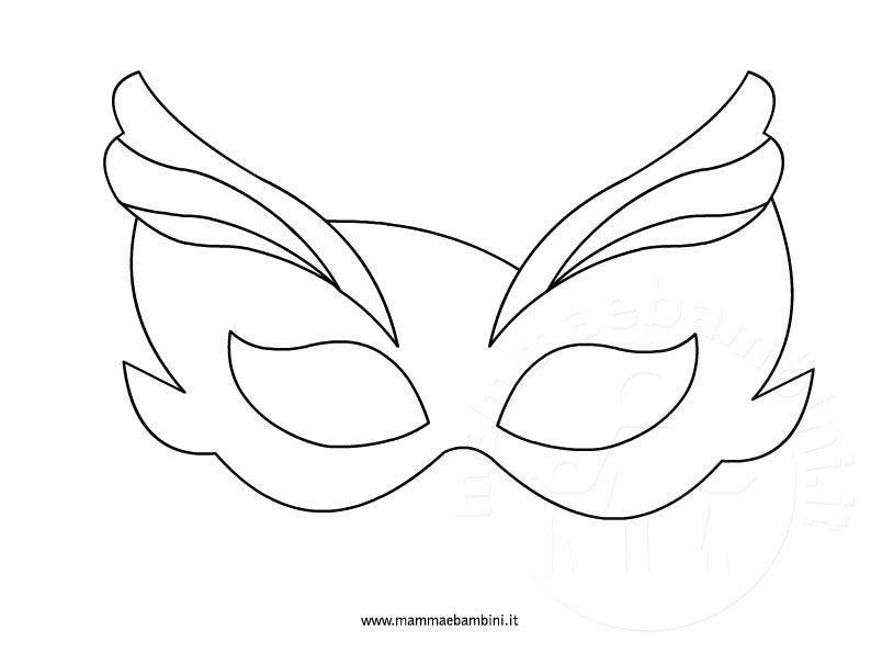 Disegni Maschere Da Colorare Per Carnevale Mamma E Bambini