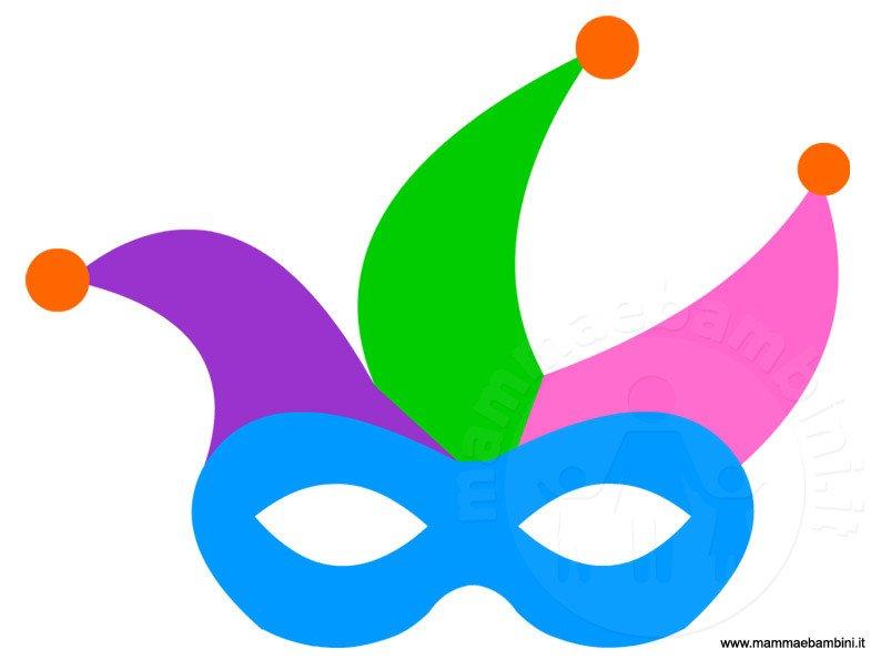 Maschera giullare da stampare per Carnevale
