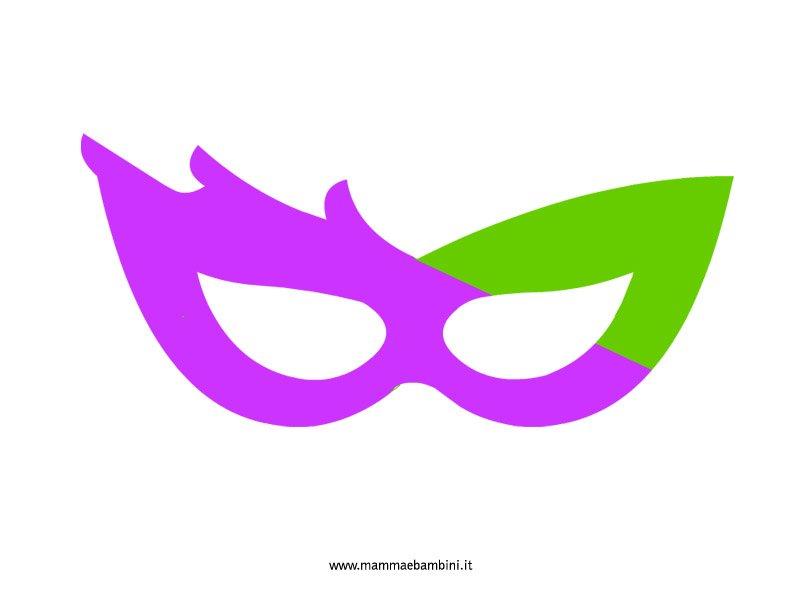 maschera-fantasia viola-verde