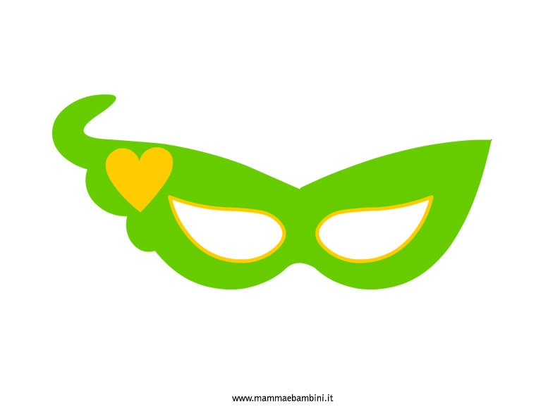 Maschera di Carnevale con cuore