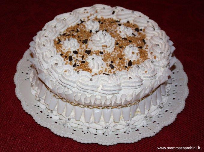 Foto torta con panna mamma e bambini - Decorazioni torte con glassa ...