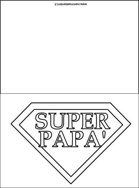 Biglietto Da Colorare Per Il Papà Mamma E Bambini