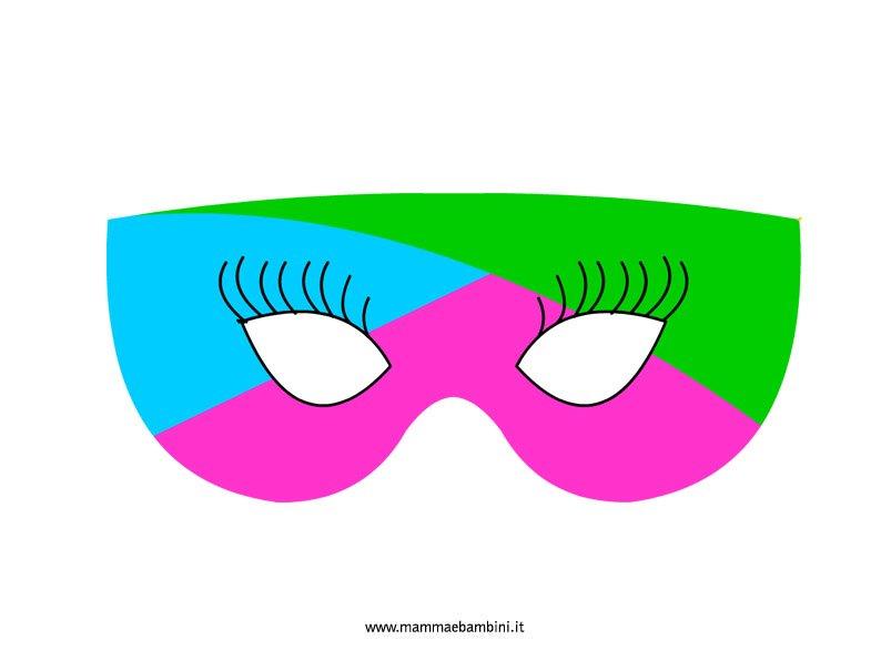 Giocare con le mascherine di carnevale mamma e bambini for Mascherina carnevale da colorare