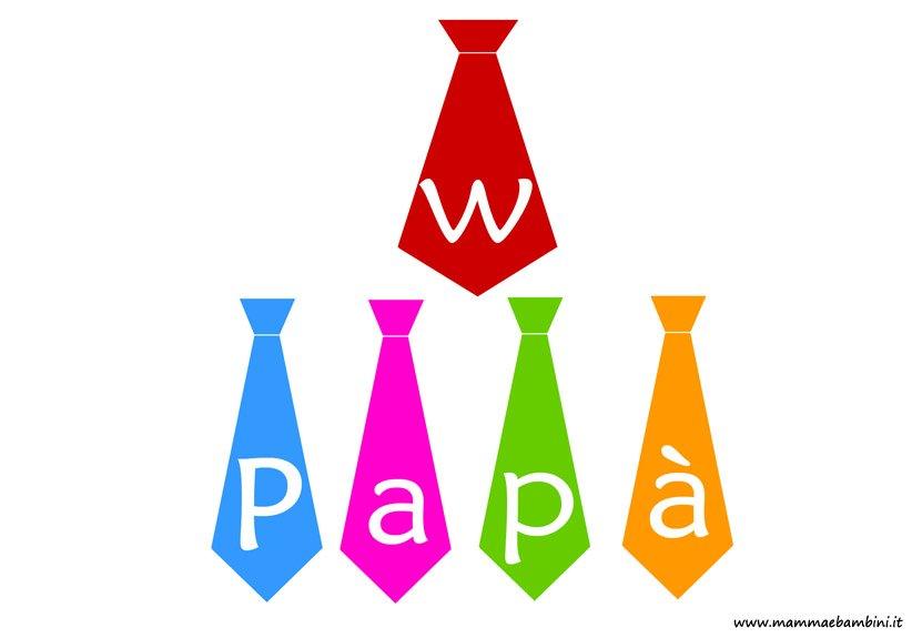 Disegno per la Festa del Papà con scritta