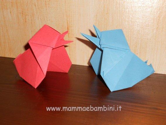 Lavoretto facile: pulcino con l'origami