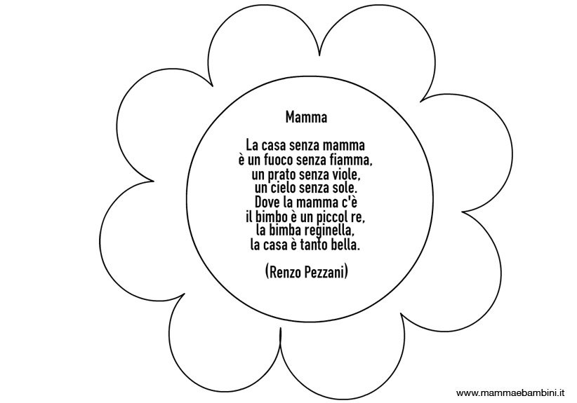 Poesie Sulla Mamma Con Cornicette Da Stampare Mamma E Bambini